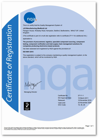 JJS Bedford certificate small