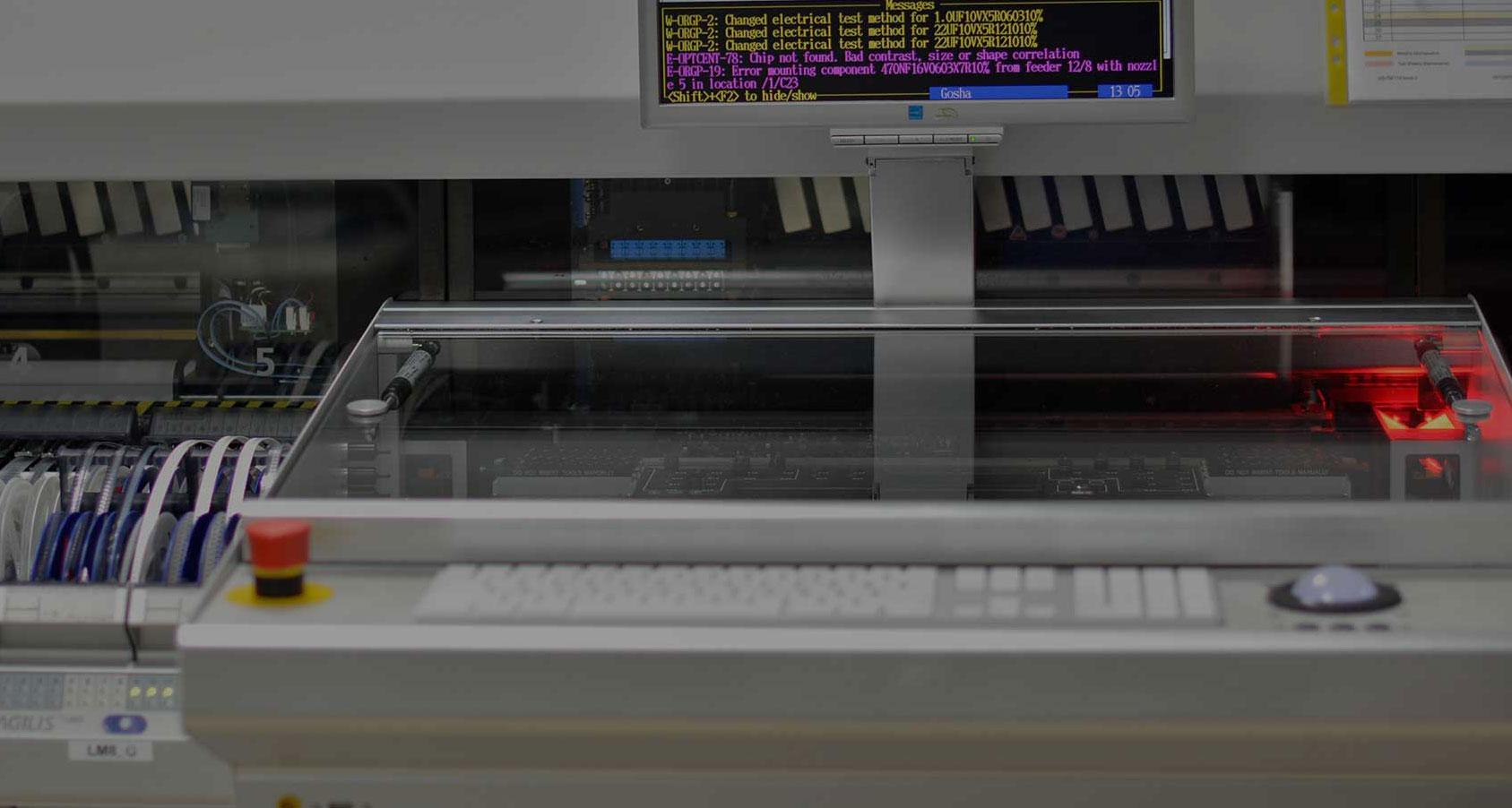 Equipment list SMT machine