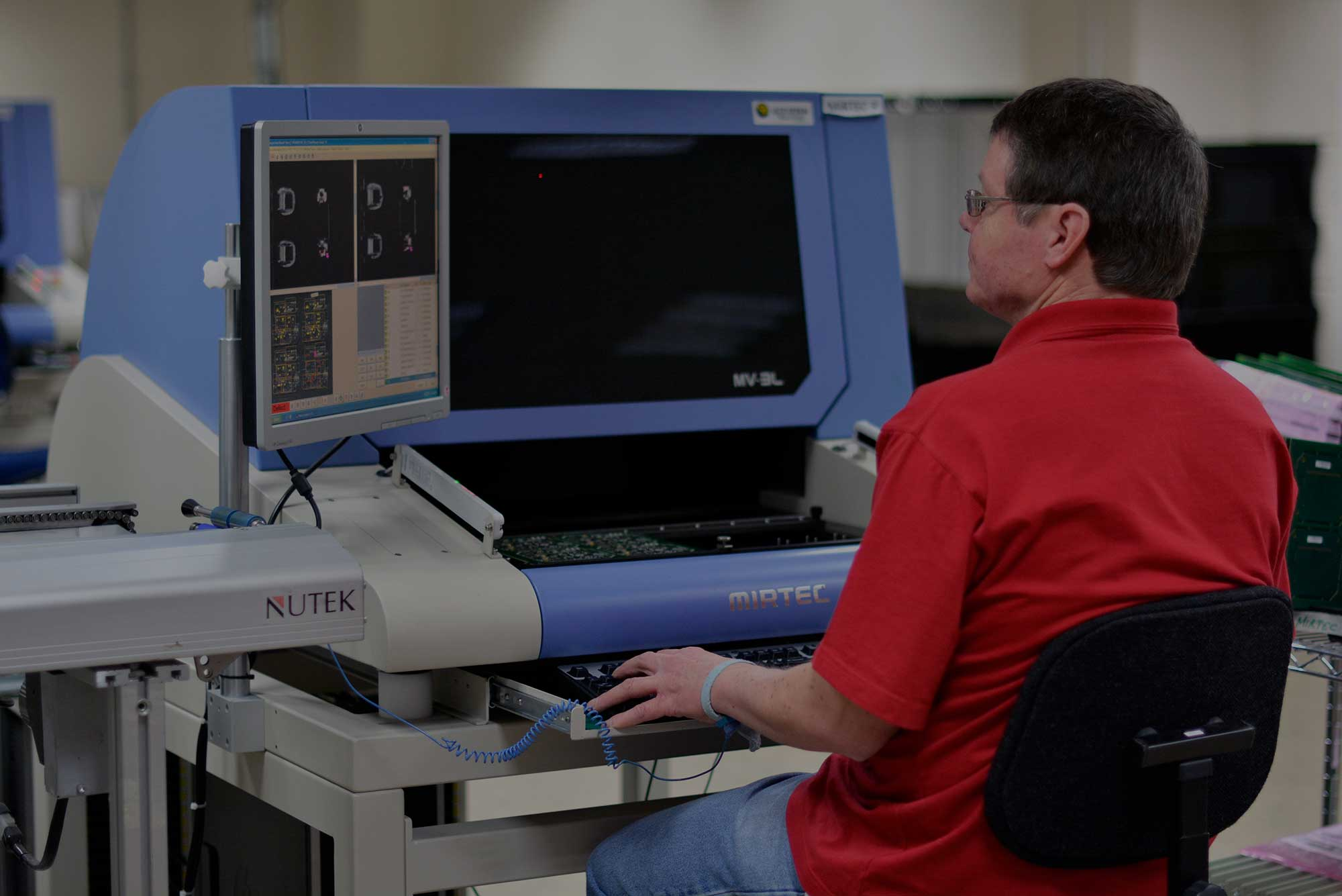 Equipment list Mirtec machine